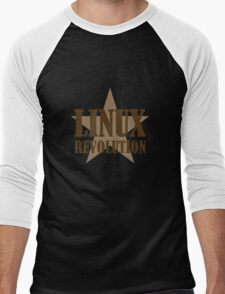 Linux Revolution Large Men's Baseball ¾ T-Shirt