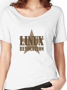Linux Revolution Large Women's Relaxed Fit T-Shirt