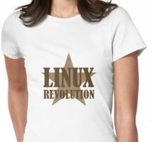 Linux Revolution Large Womens Fitted T-Shirt