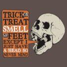 Funny skull skeleton trick or treat halloween by BigMRanch