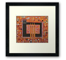 The House of the Three Peaks  Framed Print