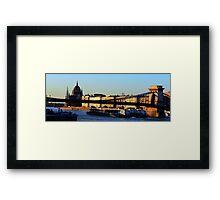 Budapest before sunset Framed Print