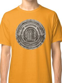 Aztec Time Lord Black and white Pencils sketch Art Classic T-Shirt