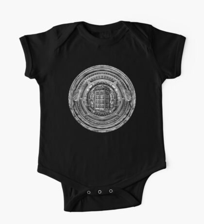 Aztec Time Lord Black and white Pencils sketch Art One Piece - Short Sleeve