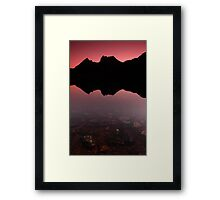 Cradle mountain silhoutte Framed Print