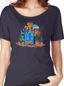 Blue Phone Booth Under the sea Women's Relaxed Fit T-Shirt