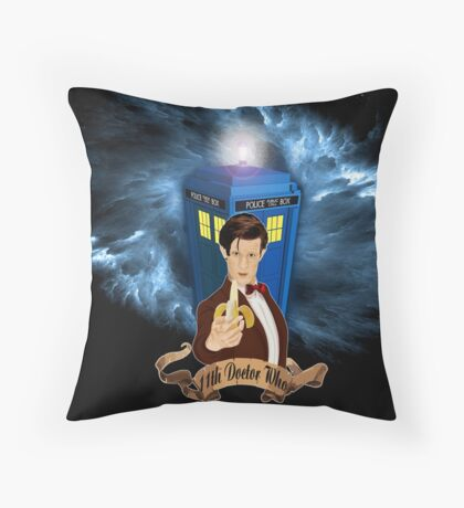 Time and Space Traveller with Banana Throw Pillow