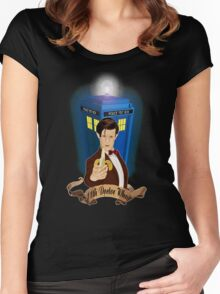 Time and Space Traveller with Banana Women's Fitted Scoop T-Shirt