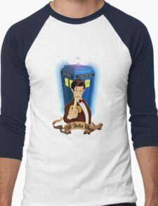 Time and Space Traveller with Banana Men's Baseball ¾ T-Shirt