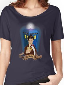 Time and Space Traveller with Banana Women's Relaxed Fit T-Shirt