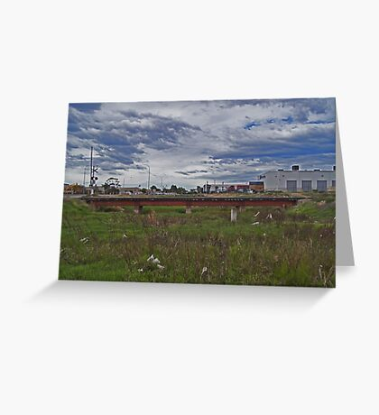 Urban river Greeting Card