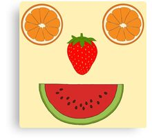 Fruit face Canvas Print