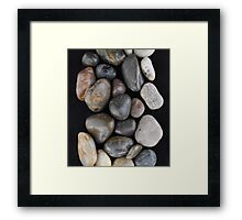 Path of Stones Framed Print