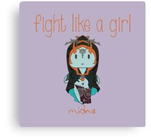 Fight Like a Girl | Twilight Princess Canvas Print