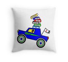 Genius Boy Driving Sports Car Throw Pillow