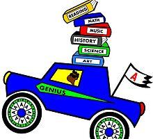 Genius Boy Driving Sports Car by Tannassie