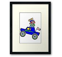 Genius Boy Driving Sports Car Framed Print