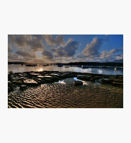 Ripples and Reflections - Paradise Beach, Sydney - The HDR Experience Photographic Print