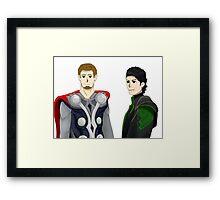 Dlive & Entoan - Thor crossover Framed Print