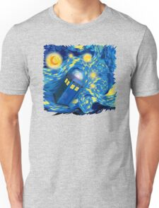 Space and time traveller phone box Starry the night Cartoons Unisex T-Shirt