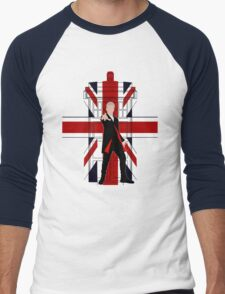 Union Jack British Flag with 12th Doctor Men's Baseball ¾ T-Shirt