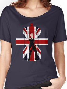 Union Jack British Flag with 12th Doctor Women's Relaxed Fit T-Shirt