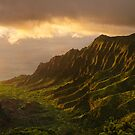 Kalalau Valley Sunset by Flux Photography
