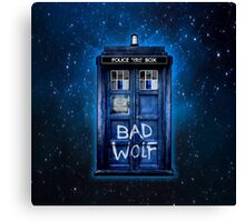 Space And Time traveller Wolf Canvas Print