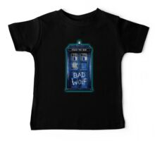 Space And Time traveller Wolf Baby Tee