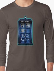 Space And Time traveller Wolf Long Sleeve T-Shirt