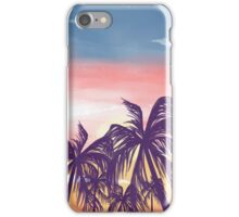 Sunset and Palm Trees iPhone Case/Skin