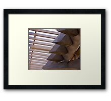 Again A Wooden Roof. Framed Print