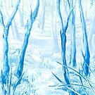 Blue woods by Barry Moulton