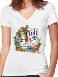 Spicoli's Colt 45 Women's Fitted V-Neck T-Shirt