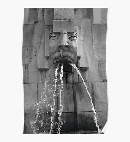 Face In The Fountain - Milan Poster