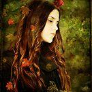 Girl with Blackbird by Sybille Sterk