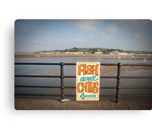 Fish & chips Canvas Print