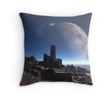 Two Moons over Incarus City Throw Pillow