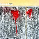 Red blots by Silvia Ganora