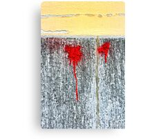 Red blots Canvas Print