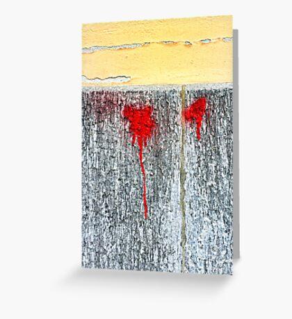Red blots Greeting Card