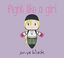 Fight Like a Girl - Mortal Kombat's Sonya Blade by isasaldanha