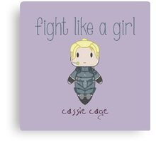 Fight Like a Girl - Daughter of Champions Canvas Print