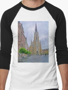Name of Mary Church, Novi Sad, Serbia Men's Baseball ¾ T-Shirt
