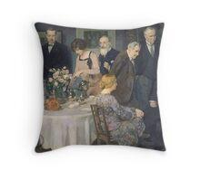 Jules Alexandre Grün A Group of Artists Throw Pillow
