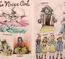 The Vivian Girls meet C.S Lewis & Carlo Collodi  by John Dicandia  ( JinnDoW )