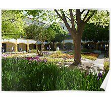 Van Gogh Courtyard Garden Poster