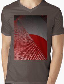 Roaming Red Mens V-Neck T-Shirt