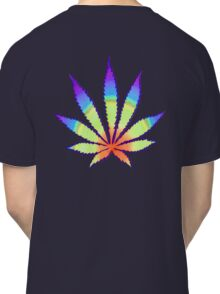 Diffused Rainbow Dope Leaf Classic T-Shirt