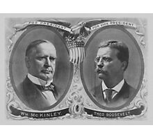 McKinley and Roosevelt Election Poster Photographic Print